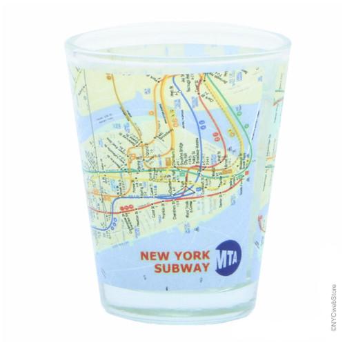 Subway Map Nyc Mta.Nyc Mta Subway Map Shot Glass