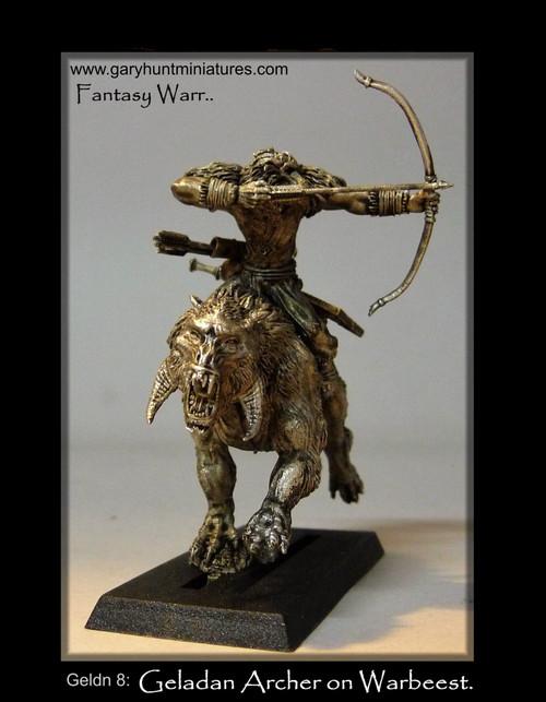 Geladan: Warbeest Rider with Bow
