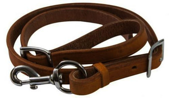 Leather Tie Down Strap With Conway Buckles