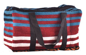 100% Wool Serape Saddle Blanket Duffle Bag