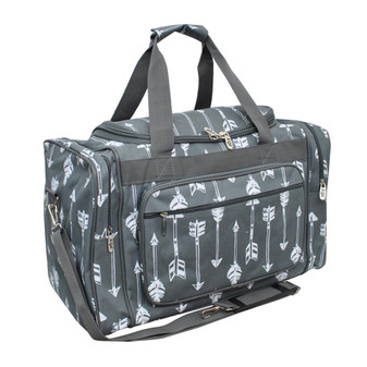 Gray Arrow Canvas Duffle Bag