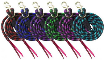 Nylon Pro Braided Lead with Leather Popper - 8'