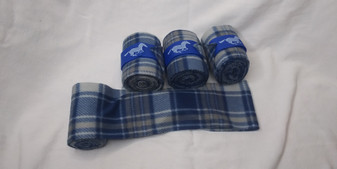 Blue and Grey Plaid Polo Wraps