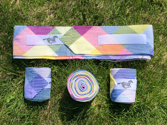 Rainbow Plaid Polo Wraps