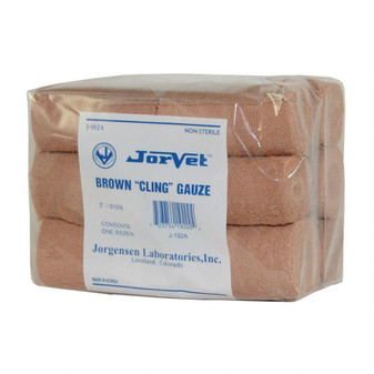 Gauze Cling 3in. Roll - Brown