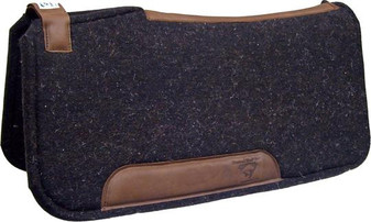 Black Contoured Ranch Pad with Adjustable Strap - 32x32