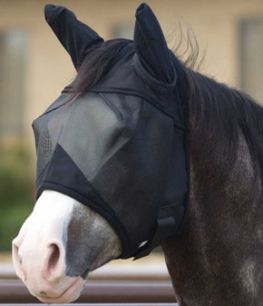 Lami-Cell Fine Mesh Fly Mask with Ears - HORSE