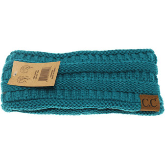 Solid Ribbed Headwrap- Teal