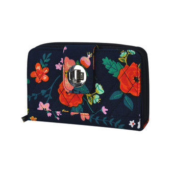 Floral Print NGIL Quilted Twist Lock Wallet