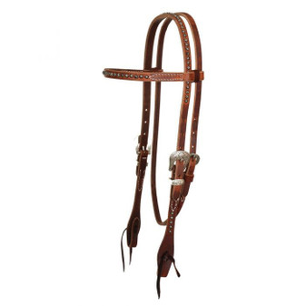 Rosewood Spot Browband Headstall