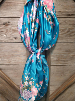 Elegant Turquoise, White and Pink Peony Floral