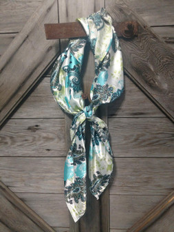 Ivory and Turquoise Paisley