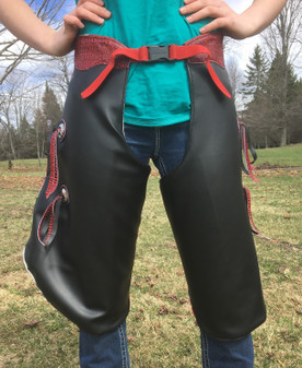 Red Plaid Winter Riding Chaps