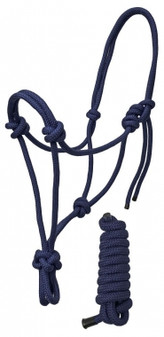 Rugged Ride Braided Rope Halter With Matching 6 foot Lead