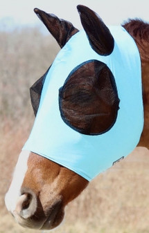 Rugged Ride Lycra Fly Mask With Ears And Zipper Chin
