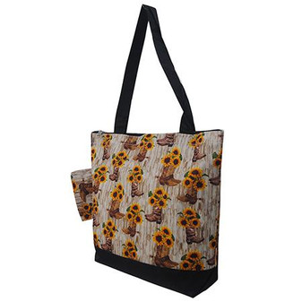 Sunflower Cowgirl Boots NGIL Canvas Tote Bag
