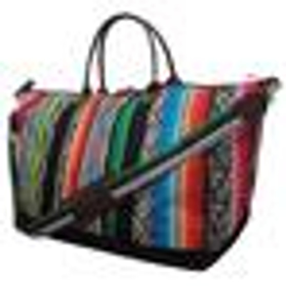 Snake Skin With Serape NGIL Large Weekender Bag