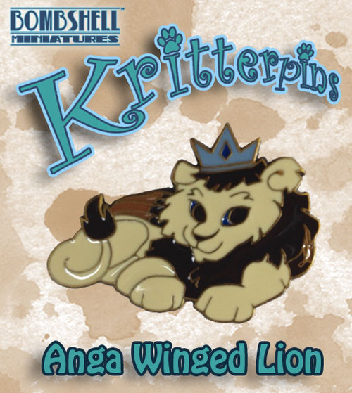 Kritterpin - Anga the Winged Snow Lion