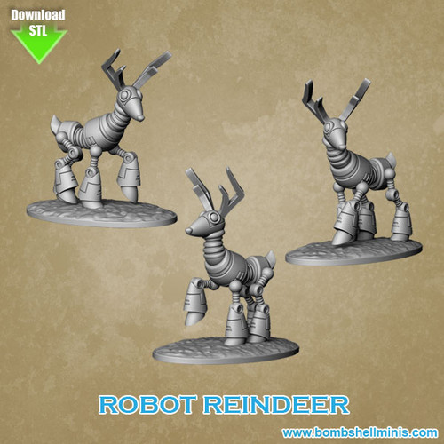 86004 - Robot Reindeer - Digital STL Download