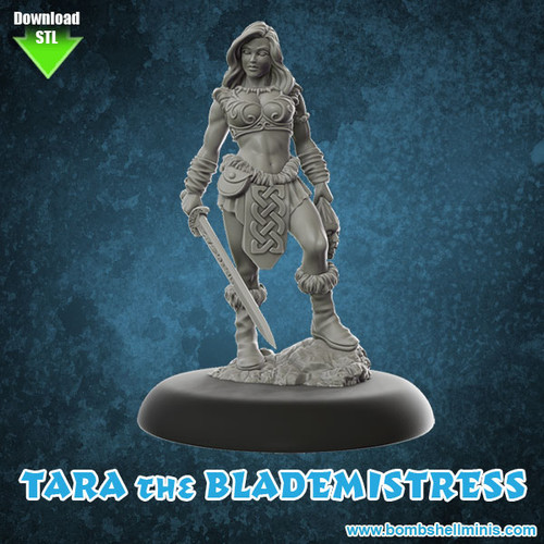 81001 - Tara the Blademistress - Digital STL Download