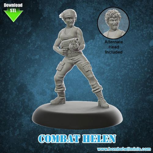 81002 - Combat Helen - Digital STL Download