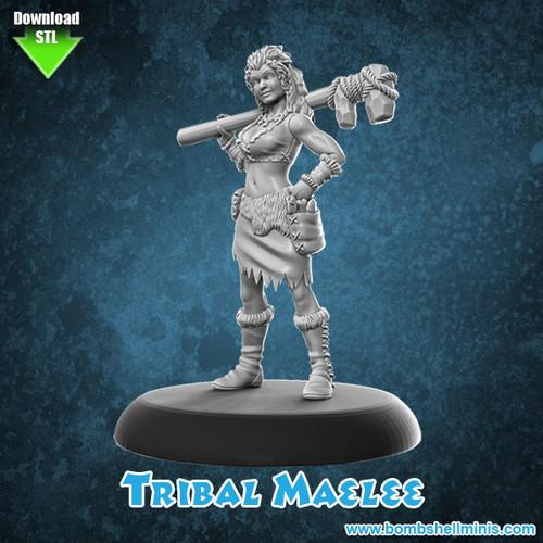 81004 - Tribal Maelee - Digital STL Download