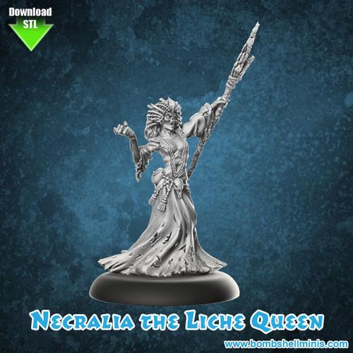 81006 - Necralia the Lich Queen - Digital STL Download