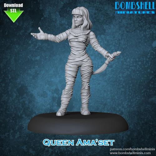 81012 - Queen Amaset- Digital STL Download