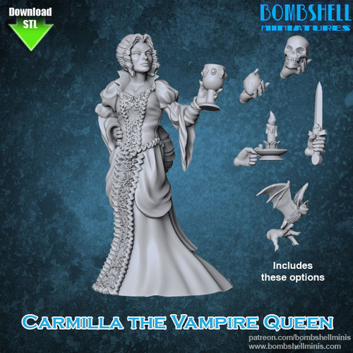 81013 - Carmilla Vampire - Digital STL Download