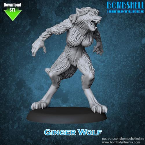 81014 - Ginger Wolf - Digital STL Download