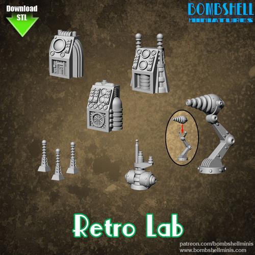 85001 - Retro Lab - Digital STL Download
