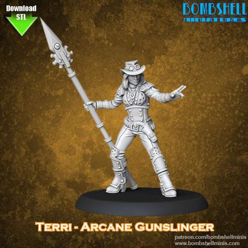 81015 - Terri Arcane Gunslinger - Digital STL Download