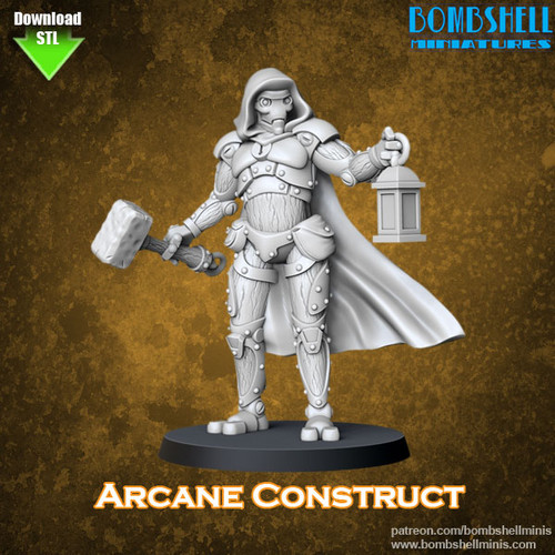 82001 - Arcane Construct - Digital STL Download