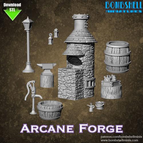 85002 - Arcane Forge Set - Digital STL Download