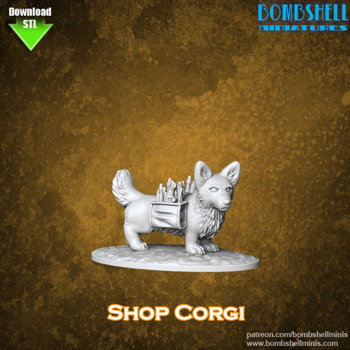 86005 - Corgi - Digital STL Download