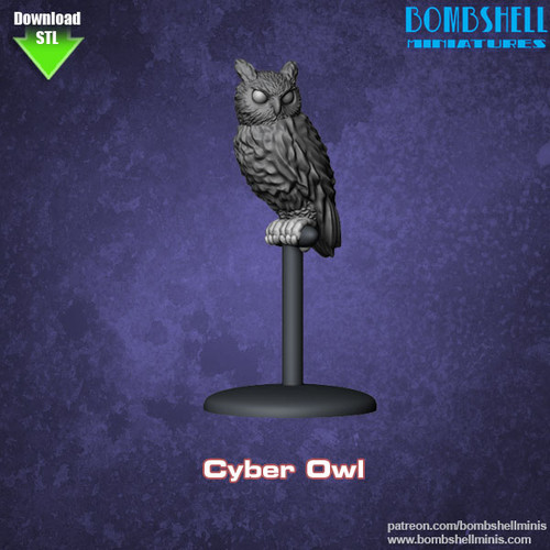 86006 - Cyber Owl - Digital STL Download