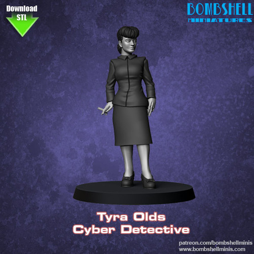 81017 - Tyra Olds, Cyber Detective - Digital STL Download
