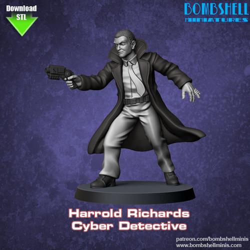 82003 - Harold Richards, Cyber Detective - Digital STL Download
