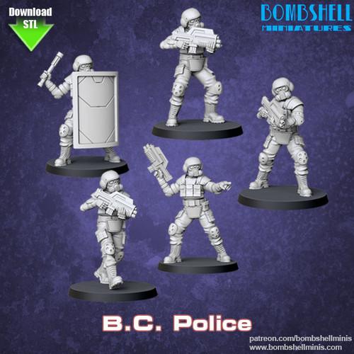82004 - B.C. Police Set - Digital STL Download