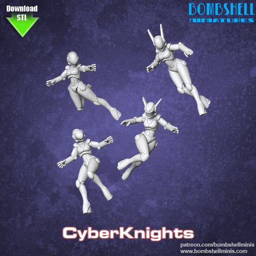 82005 - Cyber Knights - Digital STL Download