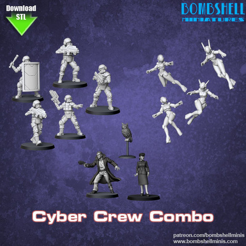 Cyber Crew Combo - Digital STL Download