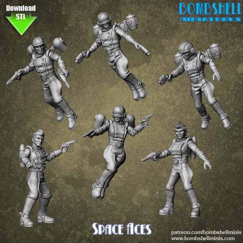 83002 - Space Aces - Digital STL Download