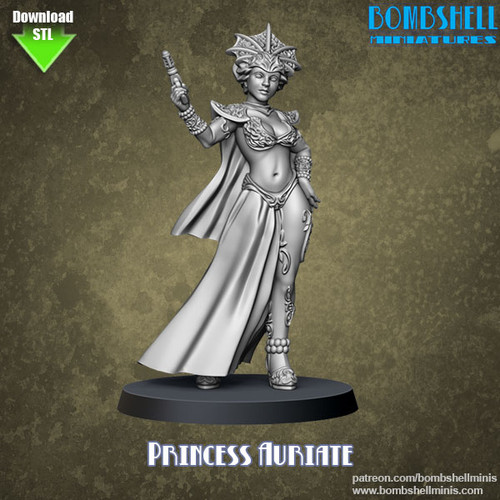 81018 - Princess Auriate - Digital STL Download