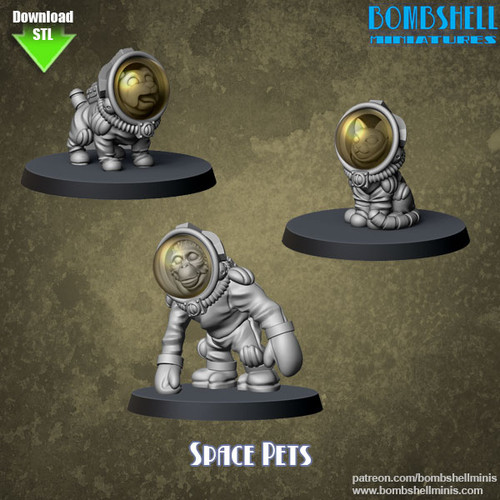 86007 - Space Pets - Digital STL Download