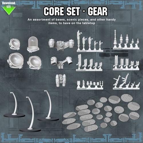 CORE SET Gear- Digital STL Download