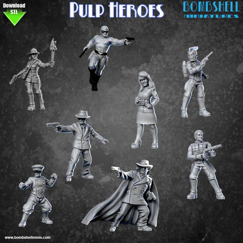 Pulp Heroes Set - Digital STL Download