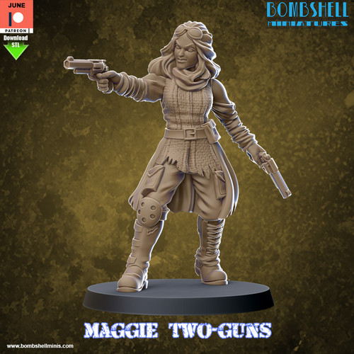 Maggie Two-Guns - Digital STL Download