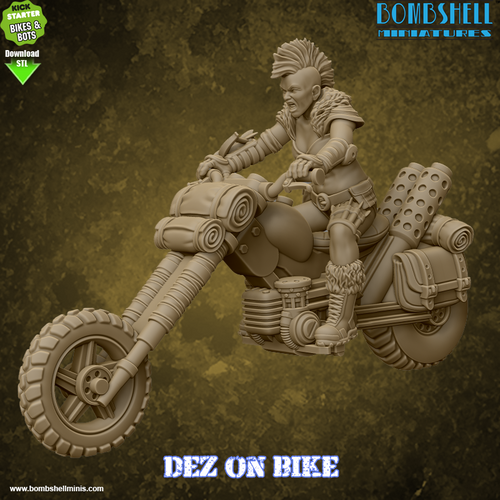 Dez on Bike - Digital STL Download