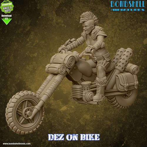 Dez on Bike - Digital STL Download