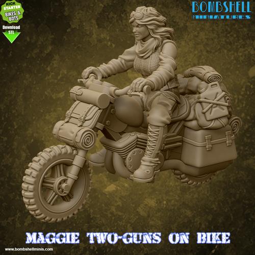 Maggie Two-Guns on Bike - Digital STL Download